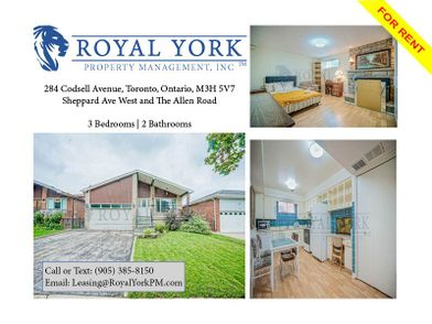 Fine 284 Codsell Avenue Toronto On M3H 5V7 3 Bedroom House For Download Free Architecture Designs Xoliawazosbritishbridgeorg
