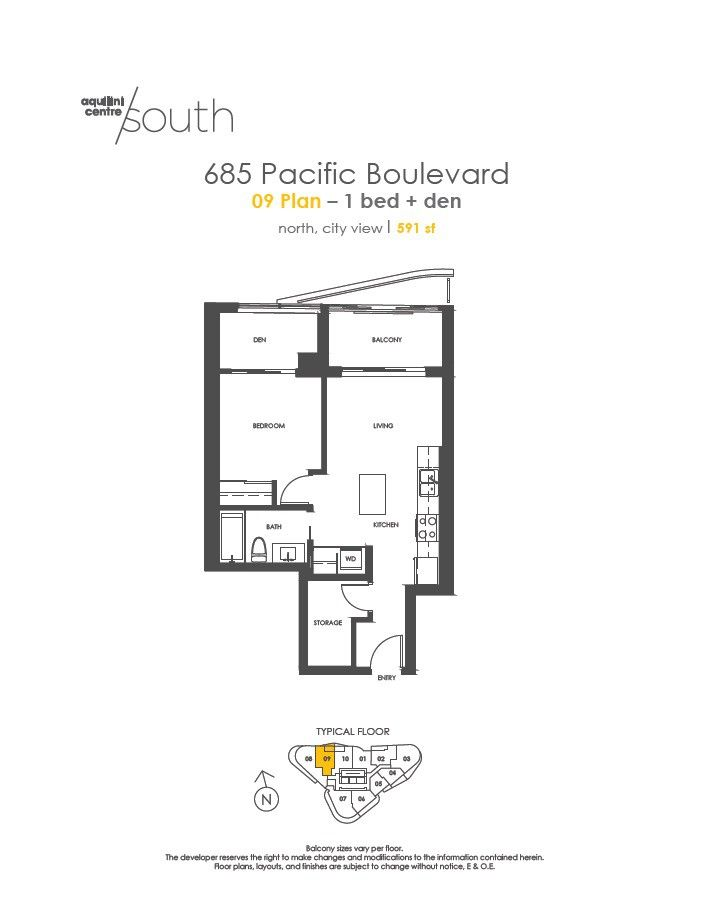 685 Pacific Boulevard, Vancouver, BC V6B 0R4 1 Bedroom