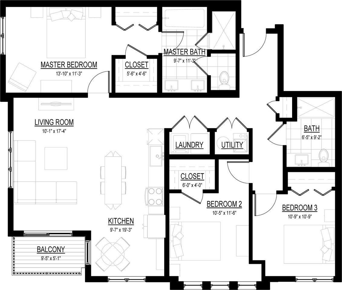 250 S Naperville Rd #C3402, Wheaton, IL 60187 3 Bedroom