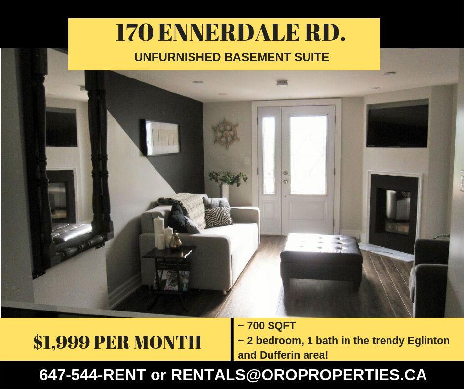 170 Ennerdale Road Toronto On M6e 4c9 2 Bedroom Apartment For