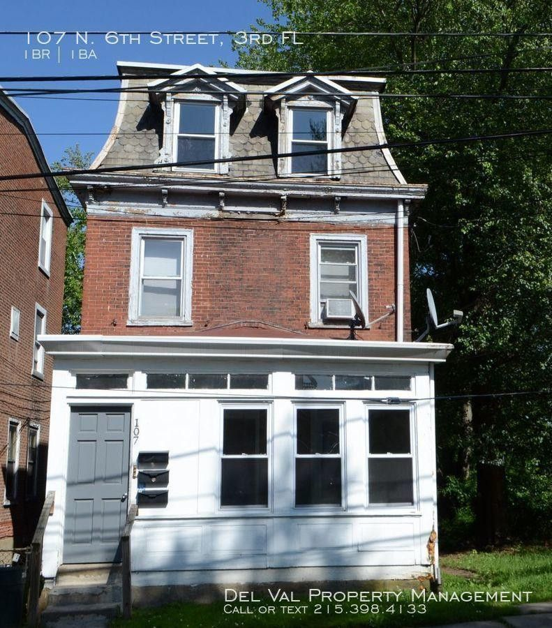 Single Room Apartments For Rent: 107 N 6th St #3rd Fl, Darby, PA 19023 1 Bedroom Apartment
