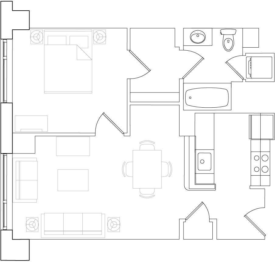 183 Brookline Ave. #245, Boston, MA 02215 1 Bedroom