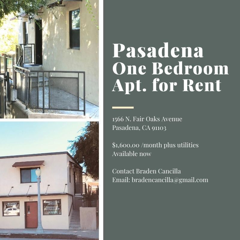 1566 N Fair Oaks Ave, Pasadena, CA 91103 1 Bedroom