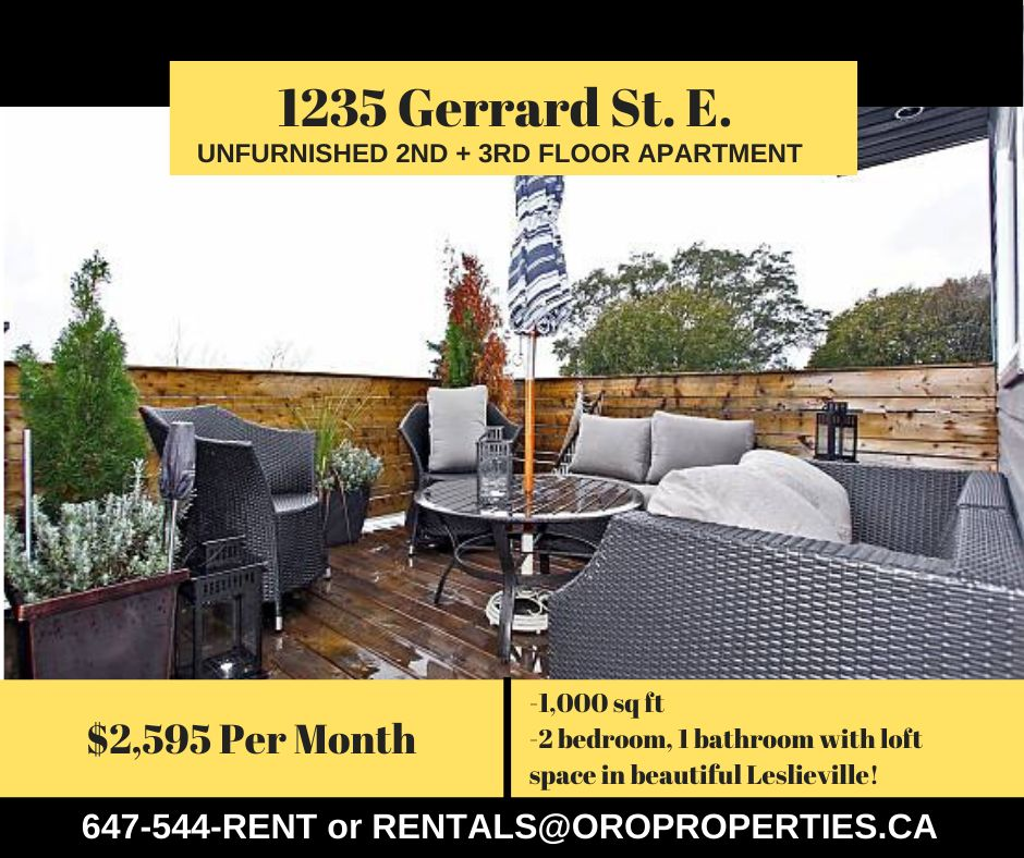 Apartments For Rent In Toronto: 1235 Gerrard Street East #Upper, Toronto, ON M4L 1Y5 2