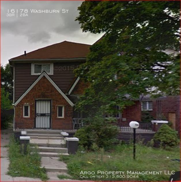 16178 Washburn St, Detroit, MI 48221 3 Bedroom House For