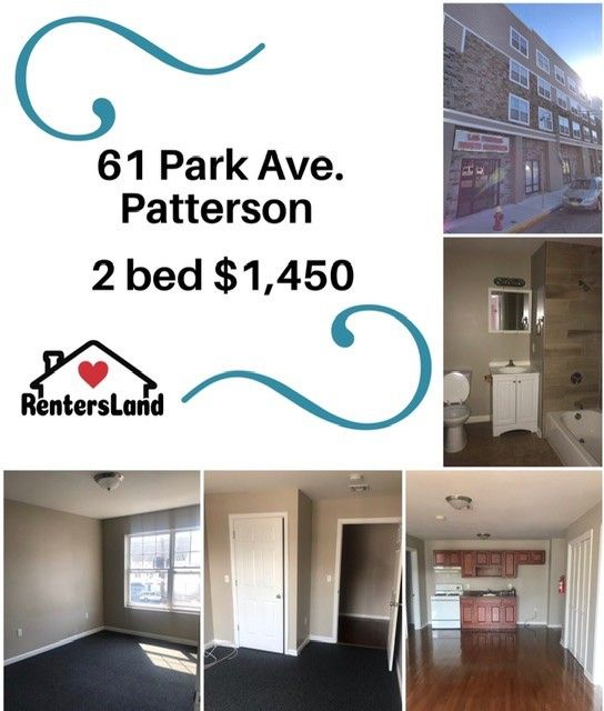 1 Bed Apartments For Rent: 61 Park Avenue, Paterson, NJ 07501 1 Bedroom Apartment For