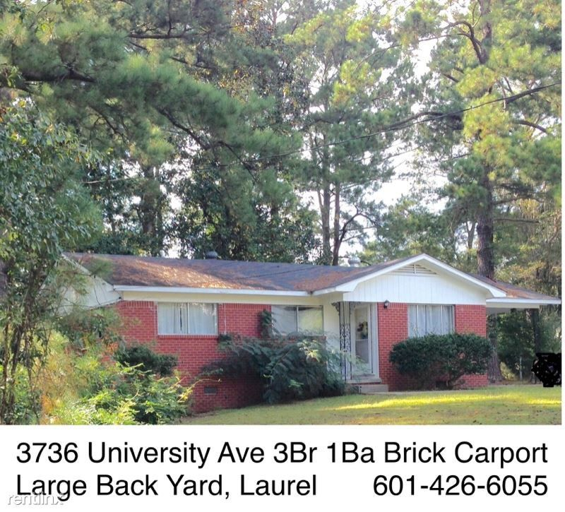 3736 University Ave, Laurel, MS 39440 3 Bedroom House For