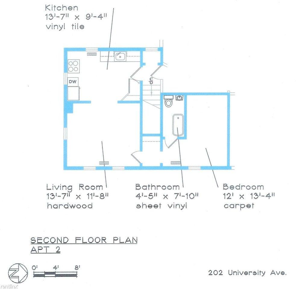 202 -204 University Ave, Ithaca, NY 14850 1 Bedroom
