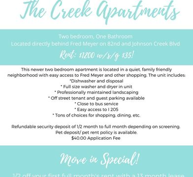 The Creek Apartments 8950 Southeast 79th Place 8950 Milwaukie Or 97206 Zumper