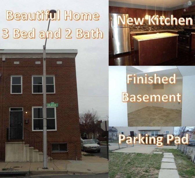 1549 Holbrook St, Baltimore, MD 21202 3 Bedroom Apartment